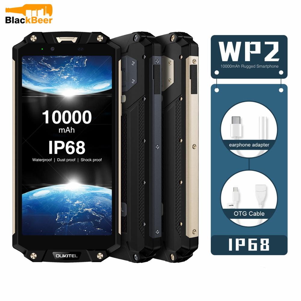 OUKITEL MT6750T WP2 Smartphone IP68 64GB GSM/WCDMA/LTE NFC Adaptive Fast Charge Octa Core