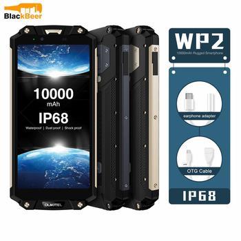 Перейти на Алиэкспресс и купить Смартфон OUKITEL WP2, 6,0 дюйма, IP68 водонепроницаемый мобильный телефон, 4 Гб 64 ГБ, Восьмиядерный MT6750T, 10000 мАч, nfc, быстрая зарядка, OTG