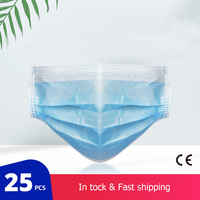 25 pcs/Bag FDA CE Certification Disposable Medical Mask Thickened 3 Layer Non-woven Protective Surgical Mask Fast Delivery 1