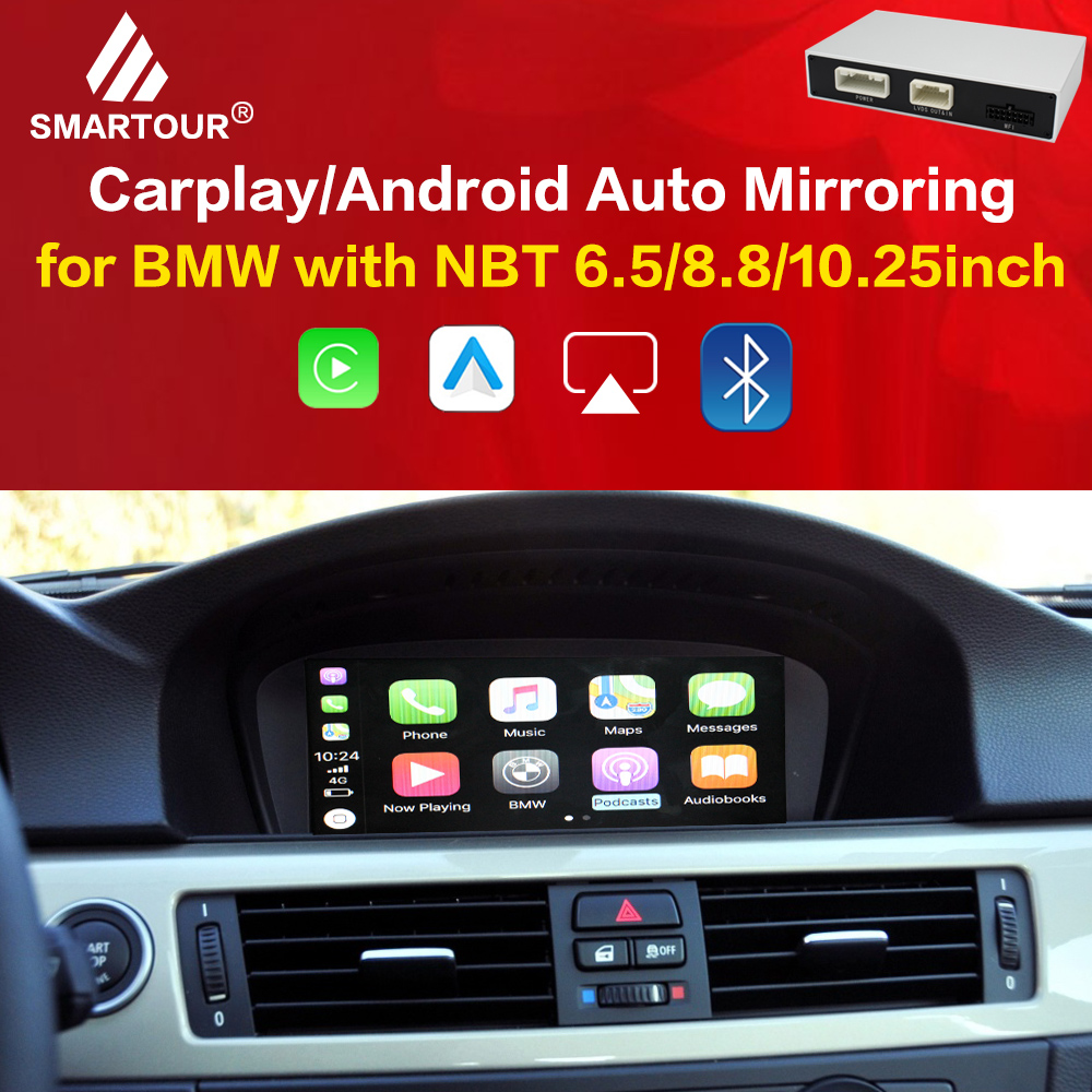 Wireless Carplay for IOS auto interface box For <font><b>BMW</b></font> Series 3 <font><b>F30</b></font> F31 F34 Series 5 F07/F10/F11/F18 NBT MuItimedia For <font><b>Android</b></font> image