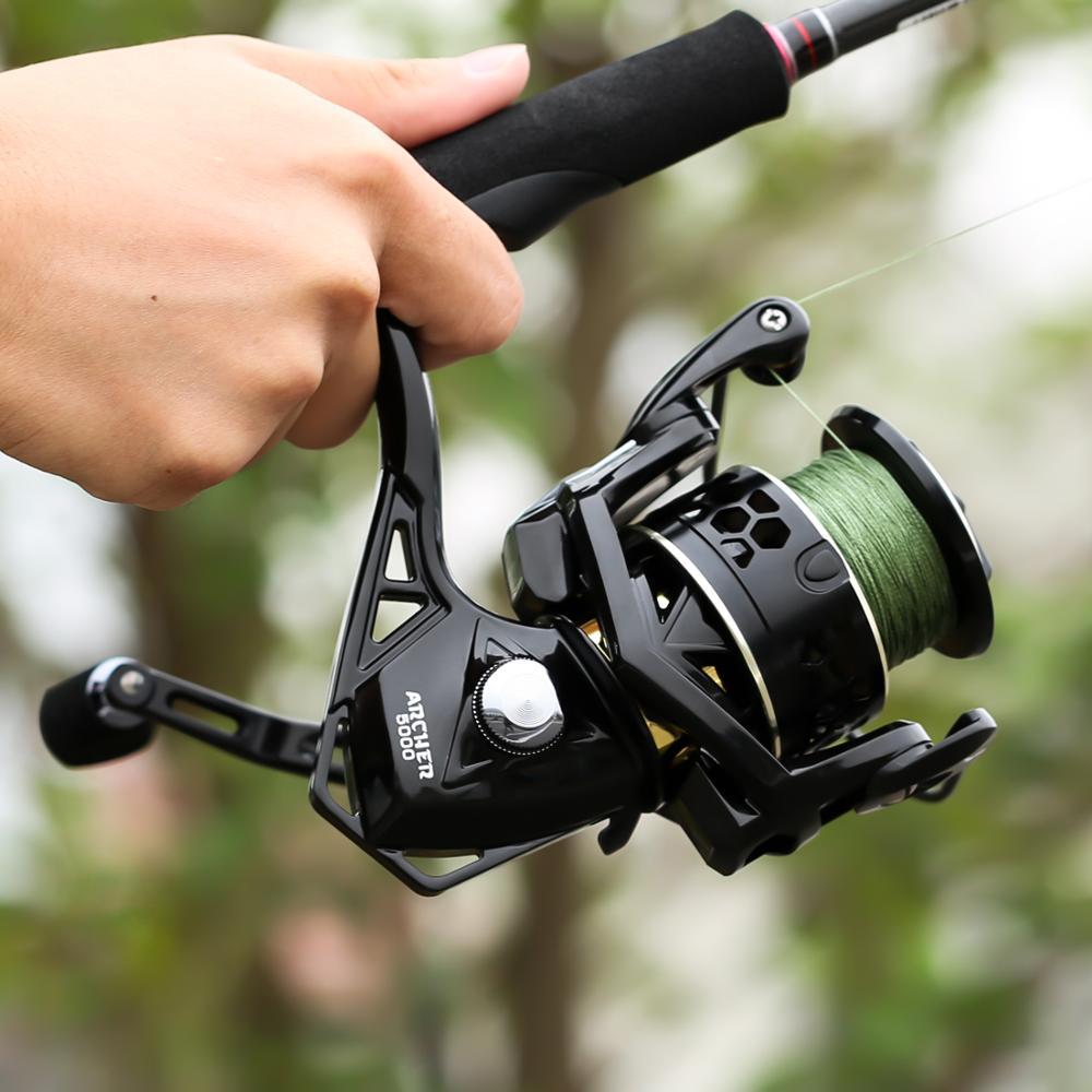 Seaknight Archer 5.2:1 4.9:1 Spinning Reel Max Drag 13Kg 8+1BB Carp Fishing Reel 2000-6000 Aluminium Spool Spinning wheel carret