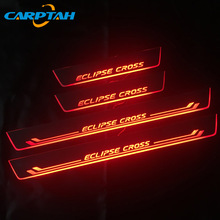 Carptah Pedal Car Exterior Parts LED Door Sill Scuff Plate Pathway Dynamic Streamer Light For Mitsubishi Eclipse Cross 2018 2019