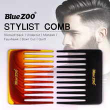 цена на Single-sided short 2-color large back, large knife comb, large tooth comb, large insert comb, shovel comb, barber shop tools