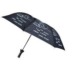 kpop umbrella Bangtan Boys Folding umbrella Sun umbrella hand drawing for Bangtan Boys Portable Travel UMBRELLAS