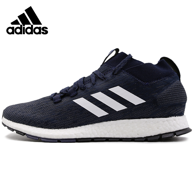 Original Nieuwe PureBOOST RBL CW Navy Blue Collectie Adidas Mens Running Windproof Shoes Comfortable Sneakers