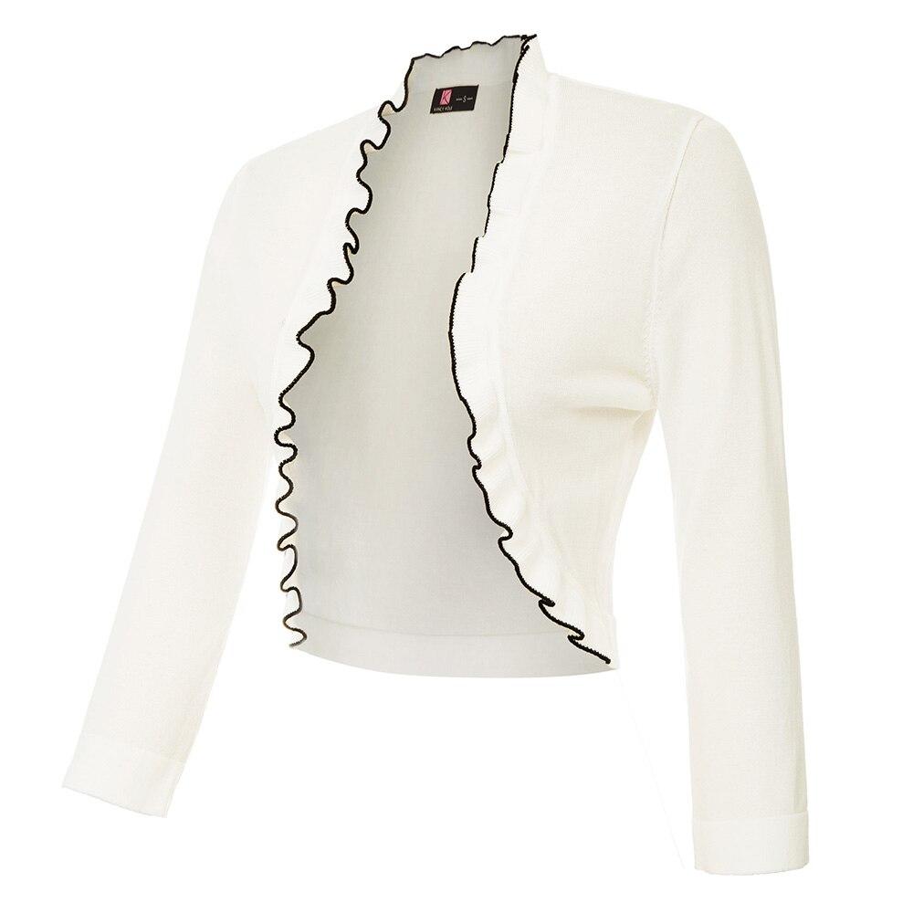 Jacket Evening Sleeve Shrug Bolero Open Lace 3//4 Tops Up Cardigan Short Ladies