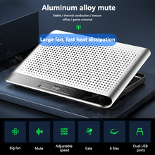 Aluminum Alloy Laptop Cooler Stand Ultra Slim Quiet Notebook Radiator Portable PC Computer Cooling Pad for 11-18
