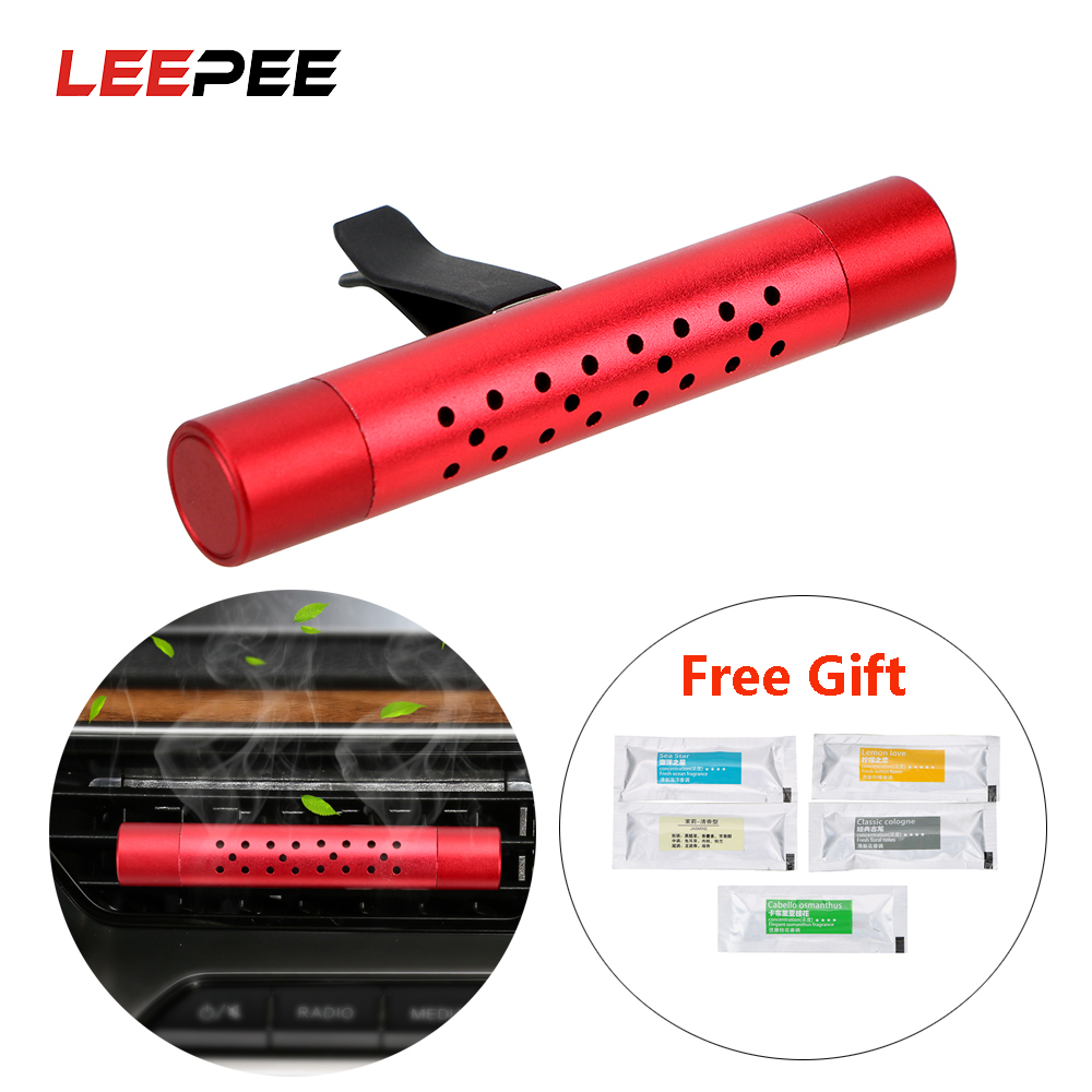LEEPEE Car Outlet Perfume Air Clip Car Air Freshener Solid Perfume Diffuser with 5 Free Aroma Stick Car Fragrance