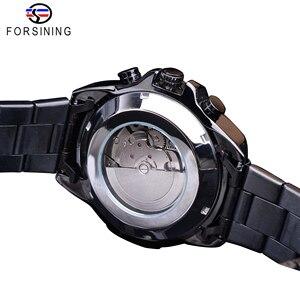 Image 4 - Forsining 2019สีดำคลาสสิกนาฬิกาSteampunk Seriesปฏิทินกีฬาอัตโนมัตินาฬิกายี่ห้อLuxury