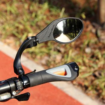 Lusterko wsteczne do lusterka rowerowego MTB kolarstwo szosowe kierownica lusterko wsteczne lusterko wsteczne elastyczne bezpieczeństwo lusterko wsteczne tanie i dobre opinie HF-MR081(L R) HF-MR080(L R) Unbreakable Bike Mirrors Stainless steel Eco-friendly high impact nylon fiber Aluminum ED black