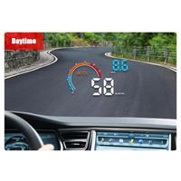 Universal Car HUD Head up Display D2500 4inch Highlight LED Color Display Car Electronics Accessories Head up Display