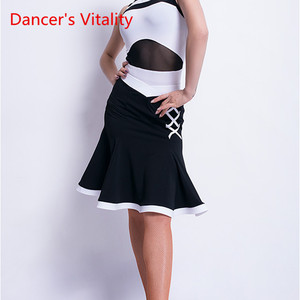 Image 3 - Latin Dance New Female Adult Sexy Skirt Latin profession Training Clothes Woman Competition Performance Clothes