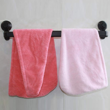 Suction Cup Towel Rack Retractable Non-Drilling Wall-Hanging Bar for Kitchen Bathroom JA55
