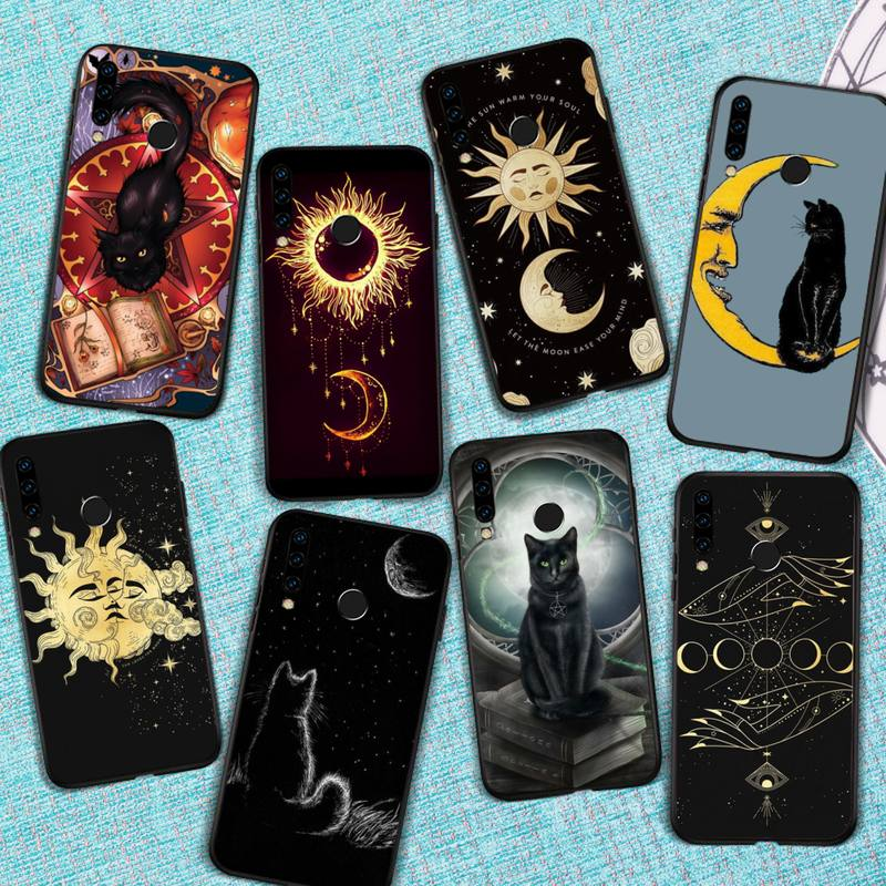 Witches moon Mystery totem Tarot cat Phone Case For Huawei Honor view 7a5.45inch 7c5.7inch 8x 8a 8c 9 9x 10 20 10i 20i lite pro