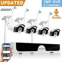 JOOAN كاميرا تلفزيونات الدوائر المغلقة 1536P كاميرا IP لاسلكية 8CH NVR 4 كاميرات واي فاي كاميرا الأمن نظام الصوت خارج الكاميرا