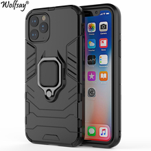 For iPhone 11 2019 Case, for Pro Car Holder Armor Cases Hard PC & Soft Silicon Cover Max With Magnet