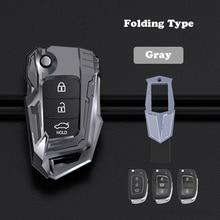 Zinc Alloy Car Key Case Cover Shell For Hyundai ix25 ix35 i10 i20 Solaris Tucson Sonata Santa Fe Sport Elantra Creta Verna
