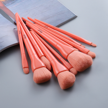 Candy Color Natural Fiber Makeup Brushes 10 Pcs Set 2
