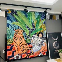 Tropical Tapestry Personality Tiger Tapestry Boho Decor Tapestry Wall Boho Decoration Home Decoration Tapiz Pared Tela hot sale large adventure theme wall hanging tapestry home decoration wall tapestry tapiz pared 1750mm 1750mm