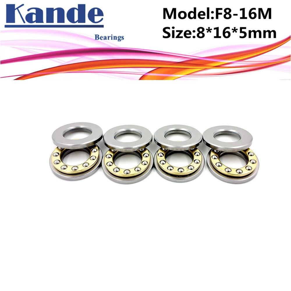 Rolamento planar miniatura de alta qualidade, 4 unidades, F8-16M 8x16x5mm F8-16 8x16x5 rolamento axial de esfera, empurrador de esfera