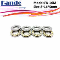 4 Uds. F8-16M F8-16 8x16x5mm, rodamiento plano en miniatura de gran calidad 8x16x5mm, rodamiento Axial de bola