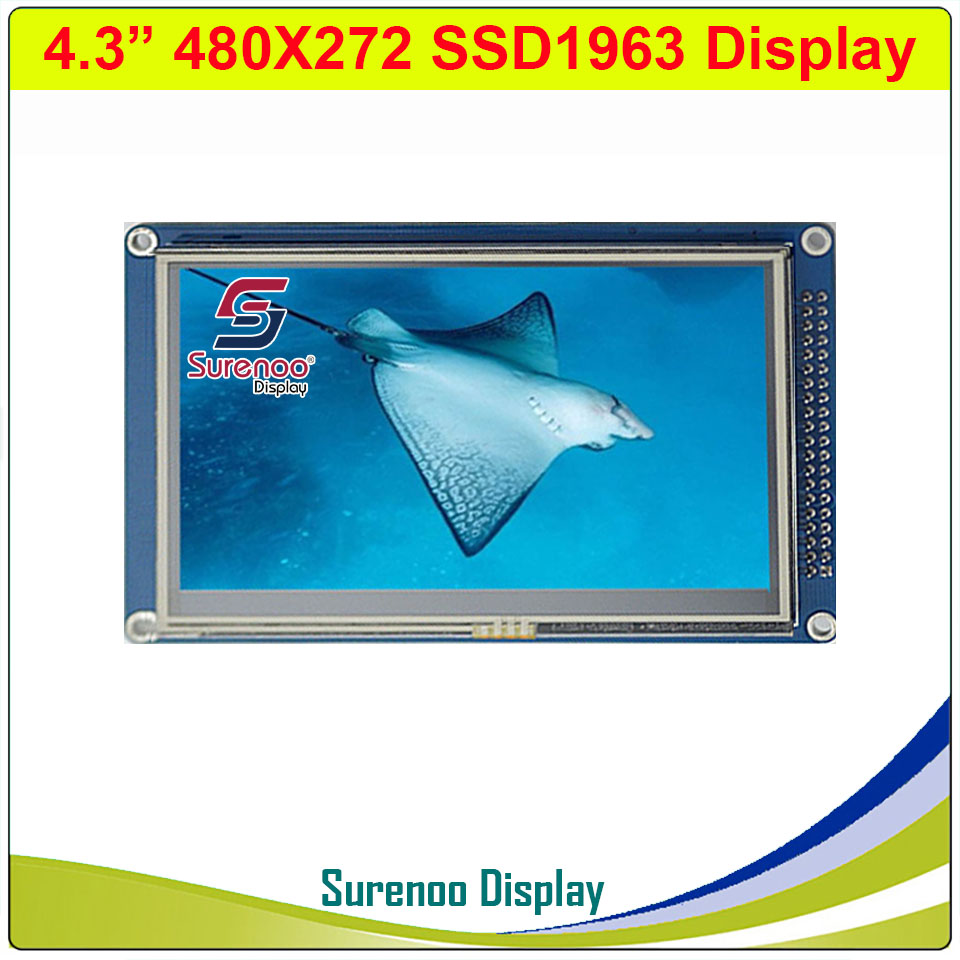 4.3 inch 480*272 TFT Touch LCD Module Display Screen Panel with PCB Adapter Build-in SSD1963 Controller for STM32/51/AVR image