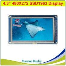"""4.3 """"インチ 480*272 TFT タッチ液晶モジュールディスプレイスクリーンパネル PCB アダプタビルドの SSD1963 STM32 用/51/AVR"""