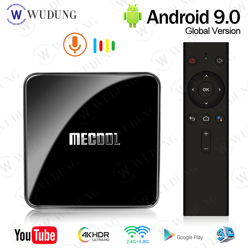 <font><b>Mecool</b></font> KM3 ATV Google Certified Smart <font><b>Android</b></font> 9.0 <font><b>TV</b></font> <font><b>Box</b></font> 4G 128G <font><b>S905X2</b></font> 2.4G/5G 4K Dual WiFi Media Player VS <font><b>KM9</b></font> PRO Set Top <font><b>Box</b></font> image