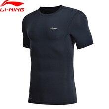 Li Ning Men Training Professional T Shirt Layer Slim Fit Quick Dry Breathable LiNing li ning Sports T Shirt Tops AUDN015 MTS2712