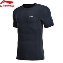 Li Ning 남자 훈련 전문 t 셔츠 레이어 슬림 맞는 빠른 드라이 통기성 LiNing li ning 스포츠 t 셔츠 탑 AUDN015 MTS2712