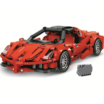 NEW Technic serise 1:18 Ferrared Enzo Scale Supercar Speed Champion Race Racing Car Sports Building Blocks Bricks Sets Kit Model image
