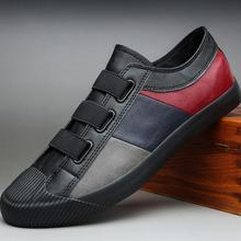 2020 spring new hot fashion men shoes slip-on leather casual shoes trend shoes cool loafers flats
