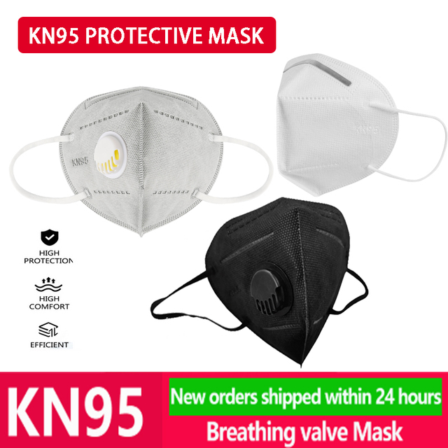 5/10/20/50 Pcs Disposable Respirator Dust Filter n95 Mask Face Mouth white Black protective gray respirators KN95 FFP2 mascarill