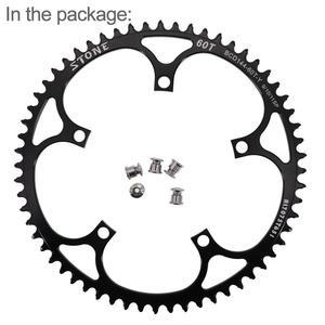 Image 4 - حجر 144 BCD سلسلة المسار الدراجة fixie الثابتة والعتاد ضيق n واسعة 44 46 48 50 52 54 55 56 58T 60T سلسلة مستديرة 144bcd