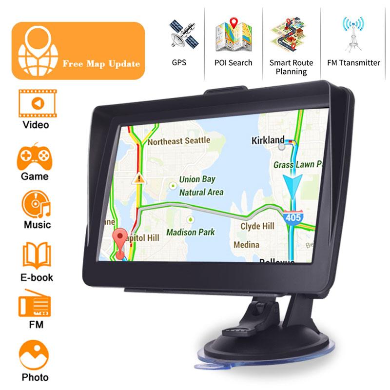 Vehemo 7 Inch GPS Navigator System Car GPS Navigation Speech Recognition FM Emission for Free Map HD GPS Navigator Pratical