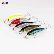 YLEO Fishing Lures Artificial Bait Wobblers Lifelike Hard Baits VIB Bass Vibration Fish 6cm 4g