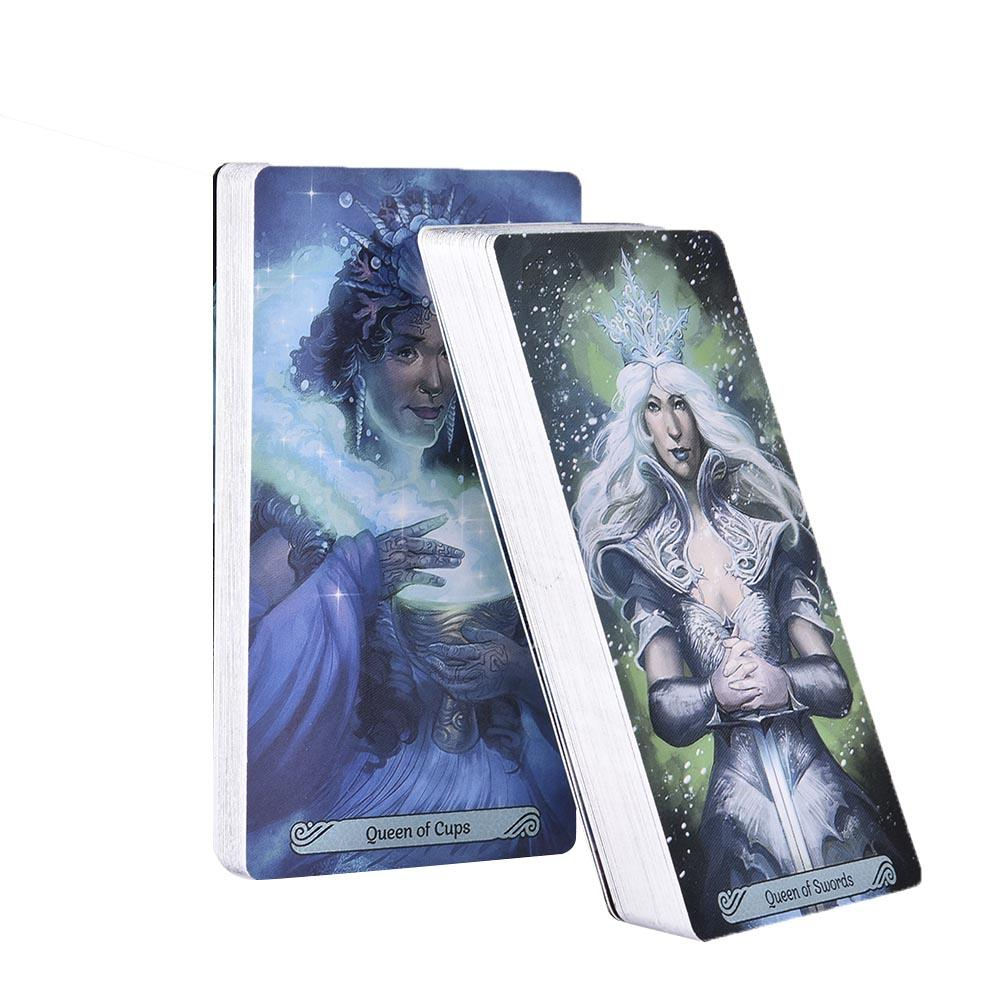 78 78 Pcs/set Tarot Cards All English Version Boxed Playing Card Tarot Mermaid Tarot Board Games Cards