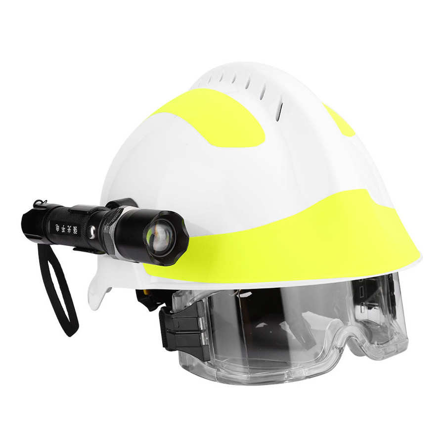 anti-impacto bombeiro capacete de proteção com farol