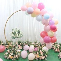 Round Ring Arches Iron Shelf Artificial Flower Door Wedding DIY Background Decoration Gold Circle Centerpiece with Stand