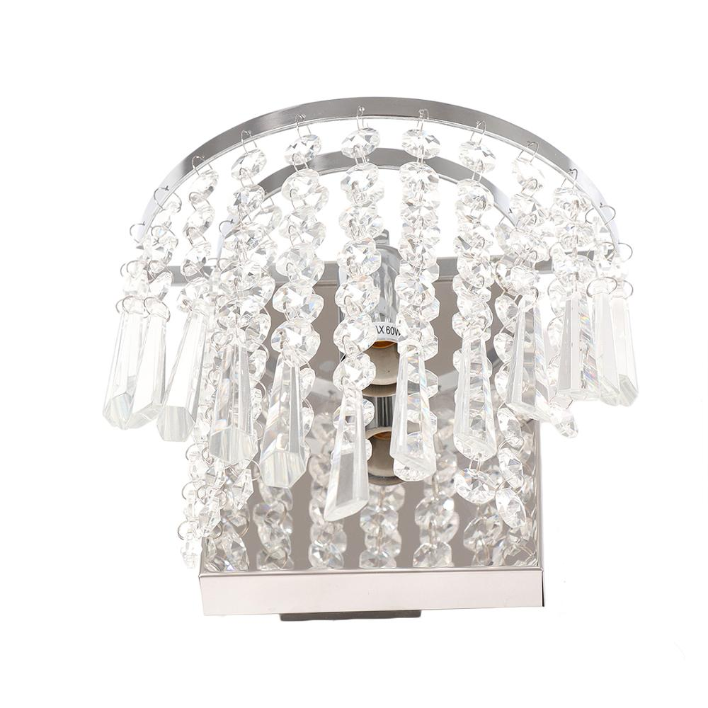 Image 2 - Modern Crystal Wall Lamp Chrome Sconce Wall Light For Living Room Bathroom Home Indoor Lighting Decoration Bulb Not IncludedLED Indoor Wall Lamps   -
