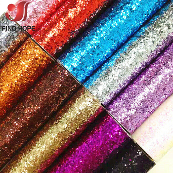 A4 20 40x120cm Self Adhesive Chunky Glitter Fabric Sparkly Vinyl Leather 3D Wallpaper Stair Border