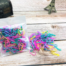 1000pcs pack Disposable Rubber Bands Elastic Hair Ties Kids Girl Ponytails Holder for Braids Wedding Hairstyle Supplies BCC02