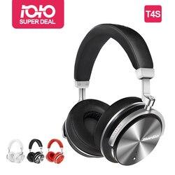 Bluedio T4S نشط إلغاء الضوضاء سماعة لاسلكية تعمل بالبلوتوث سماعات رأس لاسلكية مع ميكروفون للهواتف