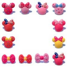 50pcs Cute Mickey Images Shoe Charms Shoe Decoration Shoes Accessories Fit Bands Crocse Accessories