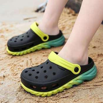 SUMMER BOY KIDS CROC CLOGS SHOES NEON GREEN CUTE ULTRALIGHT CHILDREN BOYS CLOG SHOE US11 12 13 1 2 3 EU30 31 32 33 34 35 сабо kids swiftwater clog