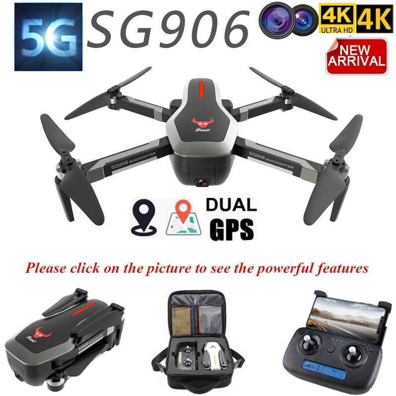 ZLL 2019 SG906 Dual GPS Drone 5G WIFI FPV  With Selfie Foldable 4K HD Camera RC Drone Foldable Quadcopter 800m Long Distance