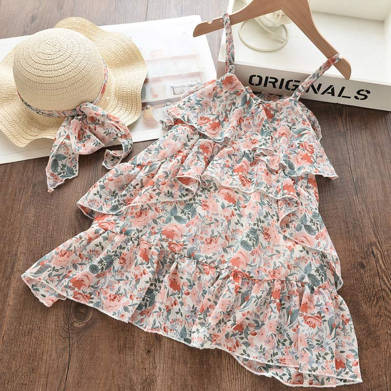 Bear Leader Girl Princess Dress New Summer Kid Girls Dress Floral Sweet Children Party Suits Butterfly Costume Children Clothing