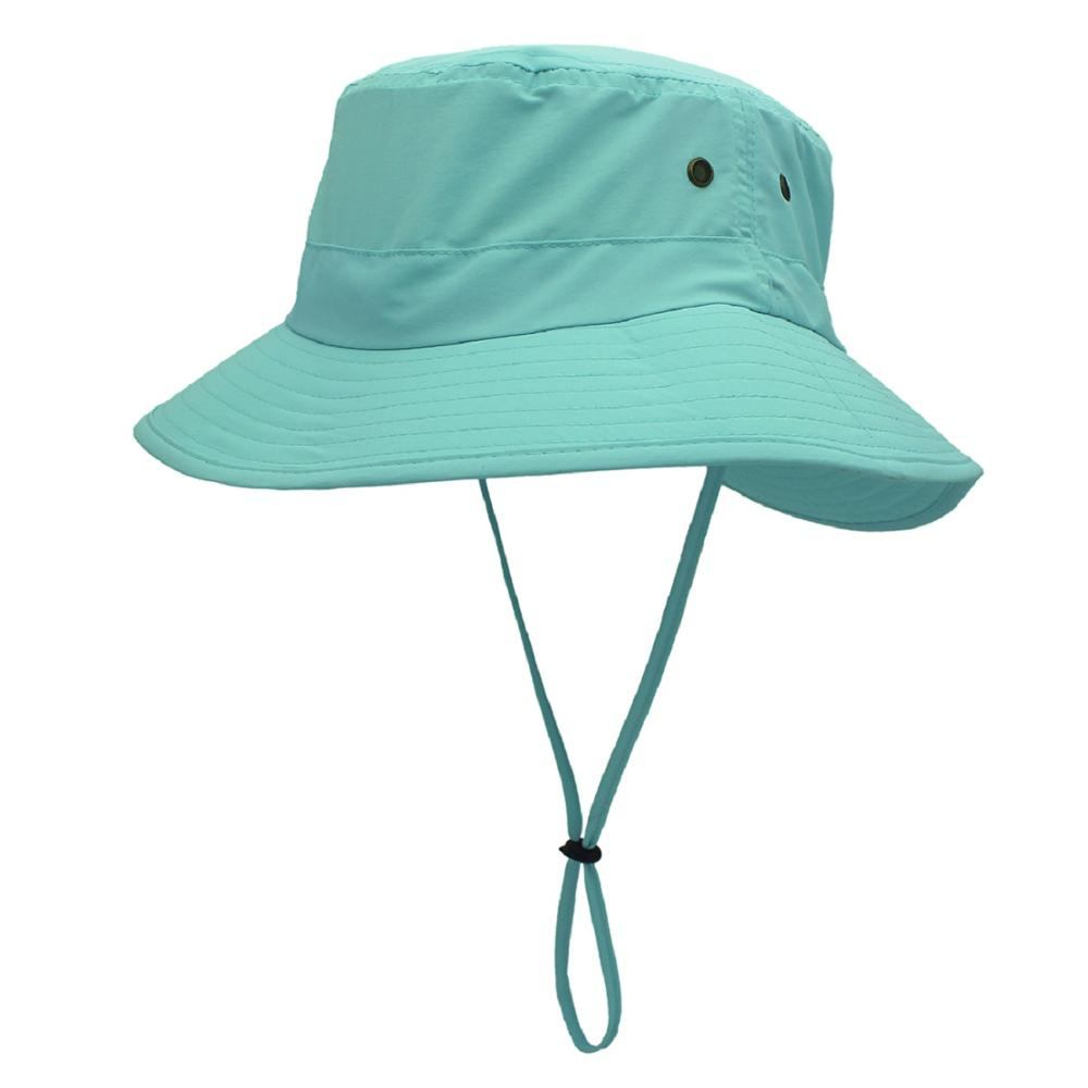 Connectyle Mens Women Lightweight UPF 50+ Wide Brim Safari Quick Dry Sun Hat  Female UV Protection Fishing Hat With Strap Cool