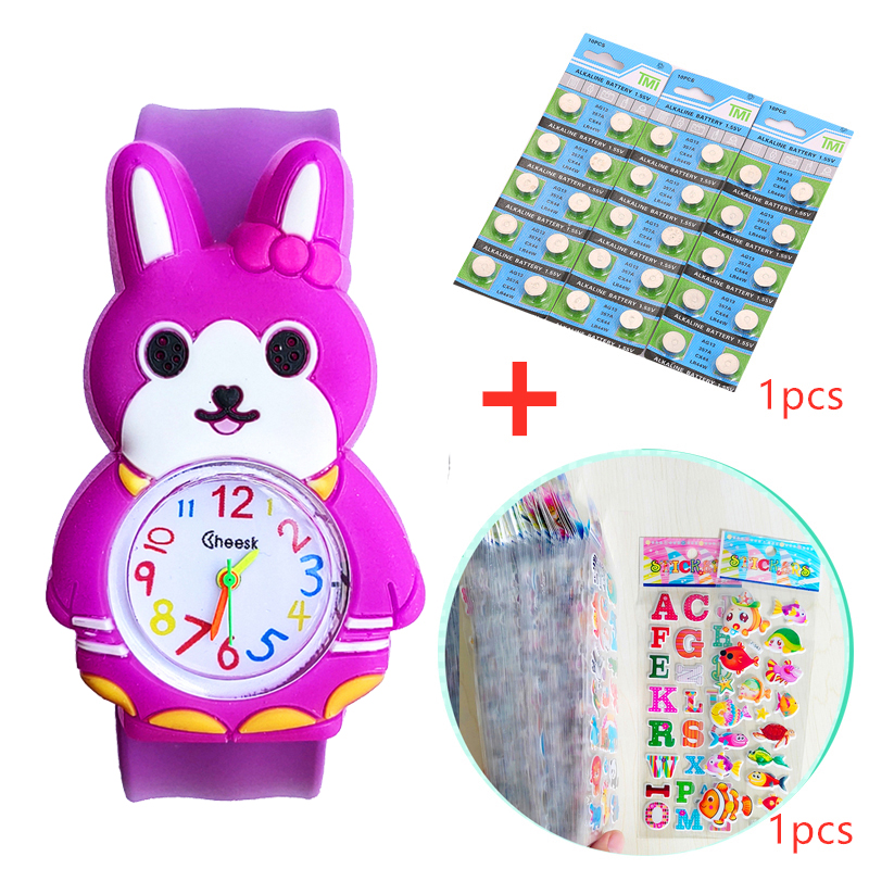 Giá bán Cute Rabbit Childrens Watches for Girls Gift Kids Watches Student Clock Baby Cartoon Toy Slap Wrist Watch Children Quartz Watch