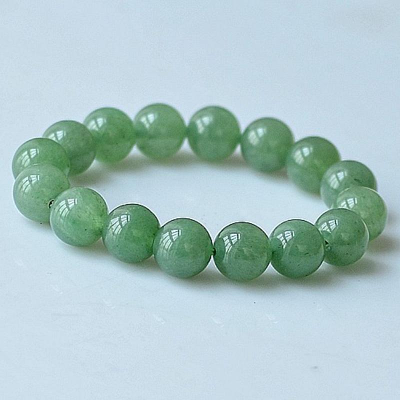 MOROW 100% Natural Green Aventurine Round Bead Stone Bracelet Jewelry Simple Women`s Men Bracelets Fashion Classic Accessory New (4)